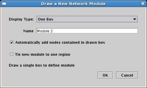 Draw Network Module Dialog